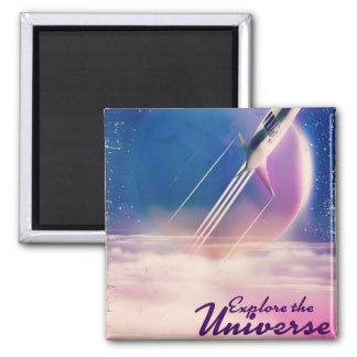 Explore the Universe Vintage space poster Magnet