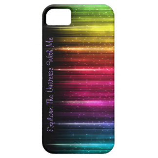 """Explore The Universe With Me"" rainbow case"