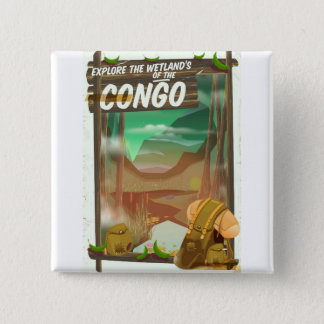 Explore the Wetlands of the Congo 15 Cm Square Badge