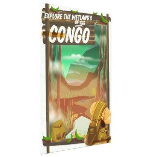 Explore the Wetlands of the Congo Canvas Print
