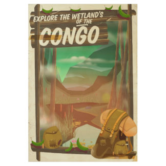 Explore the Wetlands of the Congo Wood Poster