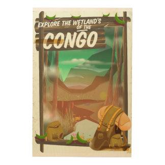 Explore the Wetlands of the Congo Wood Print
