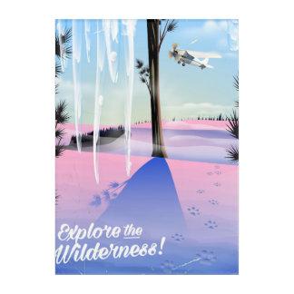 Explore the wilderness! Winter animal prints Acrylic Wall Art