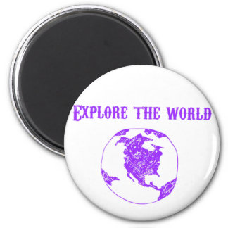 Explore the world magnet