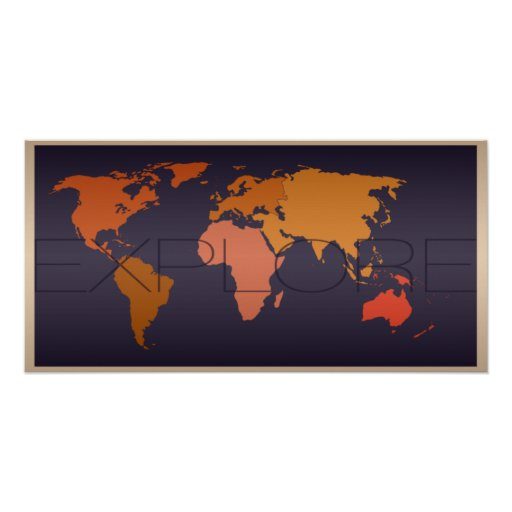 Explore World Map Poster