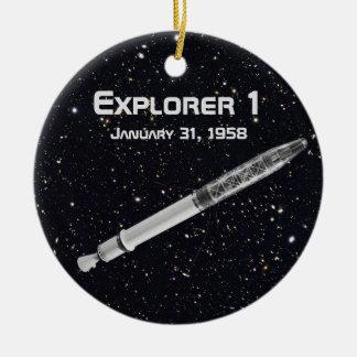 Explorer 1 Satellite Ceramic Ornament