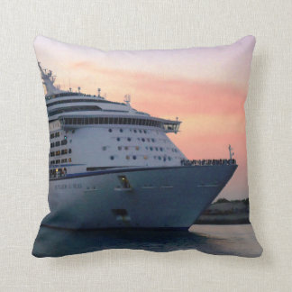 Explorer at Evening Throw Pillow