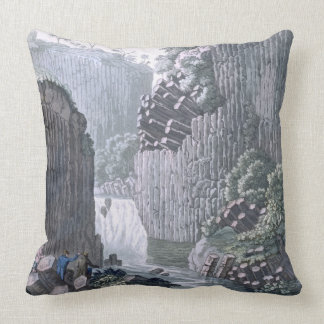 Explorers with Humboldt's Expedition in the Basalt Throw Pillow