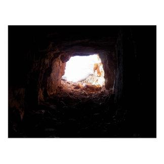 Exploring caves as actor Sean Penn explores/eats.. Postcard
