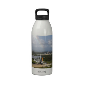 Exploring love and joy space shuttle Atlantis Reusable Water Bottle