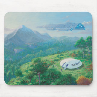 Exploring New Landscape Spaceship Mouse Pad