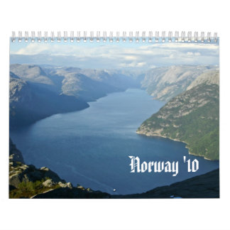 Exploring Norway Calendars