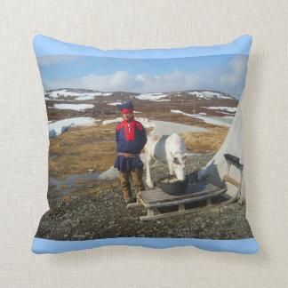 Exploring Norway, Sami settlement Lapland Cushion