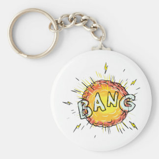 Explosion Bang Cartoon Key Ring