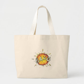 Explosion Bang Cartoon Large Tote Bag