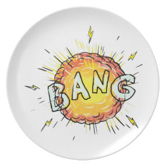 Explosion Bang Cartoon Plate
