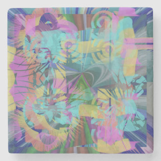 Explosion Fabulous Abstract Design Stone Coaster