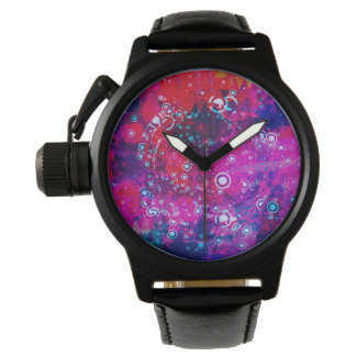 Explosion of Color Circle Abstract Watch