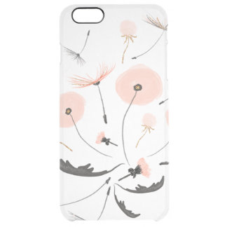 Explosion of Pink Dendelions Clear iPhone 6 Plus Case