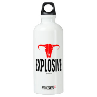 Explosive & Bull by Vimago Water Bottle