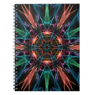 Explosive Center Spiral Notebook