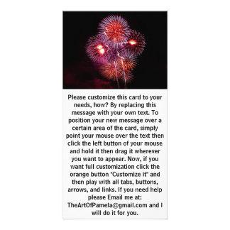 Explosive Fireworks Celebration Custom Photo Card