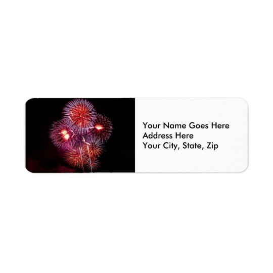 Explosive Fireworks Celebration Return Address Label