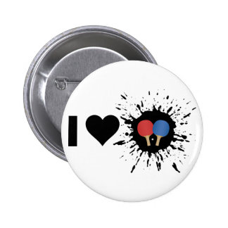 Explosive I Love Ping pong 6 Cm Round Badge