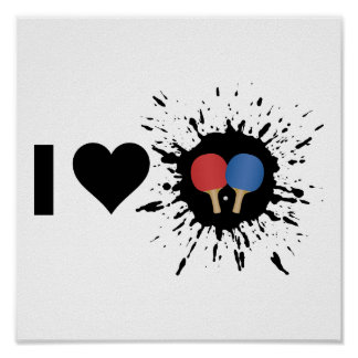 Explosive I Love Ping pong Poster