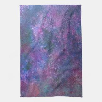 Explosive Kitchen   Purple Pink Green Blue   Fun Tea Towel