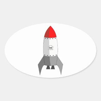 Explosive Rocket Oval Sticker