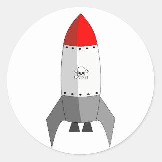 Explosive Rocket Round Sticker