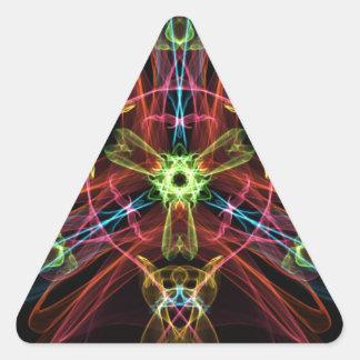 Explosive Star Triangle Sticker