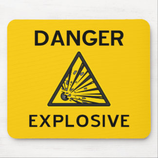 Explosive Warning Sign Mousepad