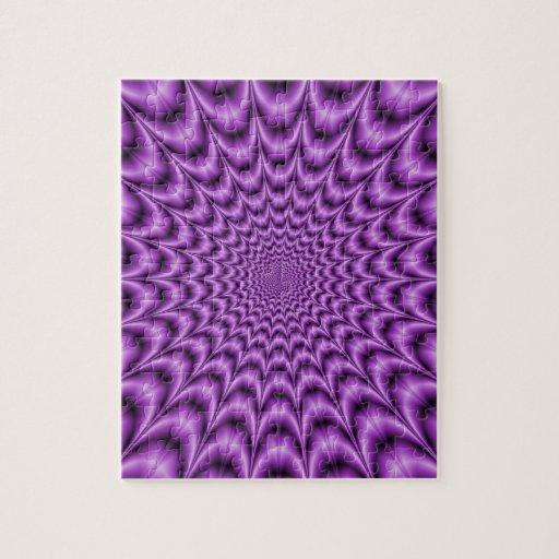 Explosive Web in Purple Puzzle