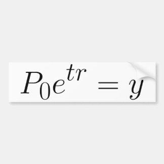 Exponential law bumper sticker