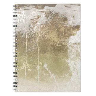 Exposed Bear Spiral Notebook