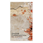 Exposed Brick and Mortar Business Card