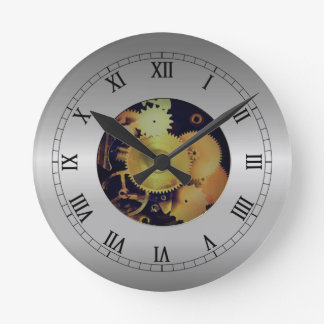 Exposed Gears Effect Wall Clock