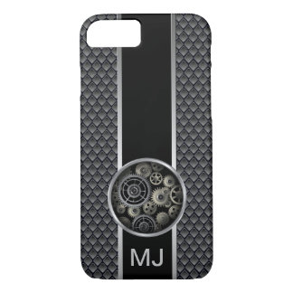 Exposed Gears Industrial Pattern with Monogram iPhone 8/7 Case
