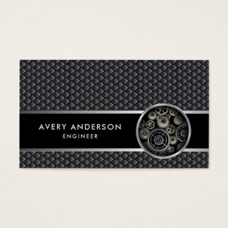 Exposed Gears Mechanical Look Business Card
