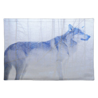 Exposed Wolf Placemat