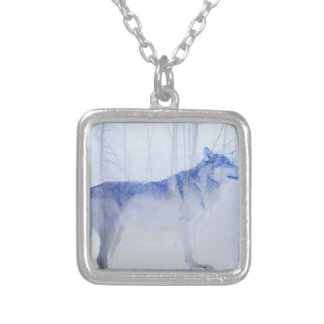 Exposed Wolf Silver Plated Necklace
