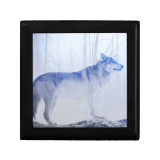 Exposed Wolf Small Square Gift Box