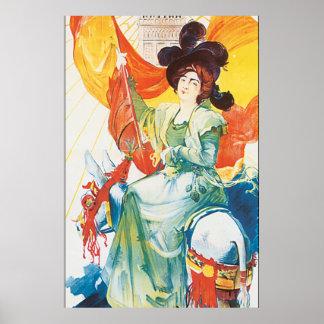 Exposition de 1900 Vintage Travel Poster Artwork