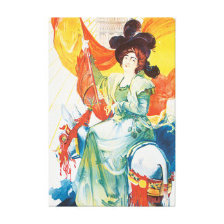 Exposition de 1900 Vintage Travel Poster Artwork Gallery Wrapped Canvas