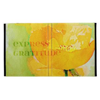 Express Gratitude Orange Poppy iPad Folio Case