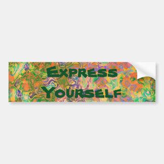 Express Yourself Paint Swirls Bumper Sticker