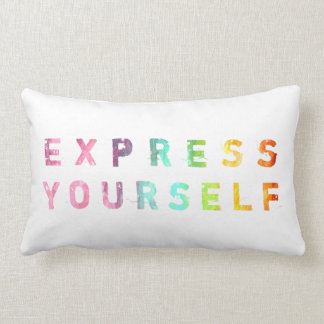 Express Yourself - Painterly Pillow Throw Cushions