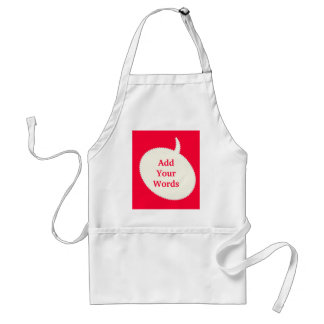 Express Yourself Red Standard Apron
